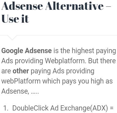 Adsense Alternative Use It Gourabscom Musics Videos Contents